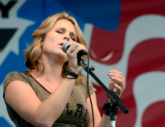 Kristy Lee Cook, formerly of American Idol, performs at the York Fair Monday night. (John Pavoncello Photo)