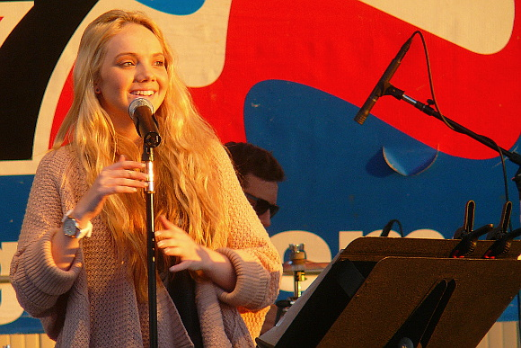 The Voice winner Danielle Bradbery at her Saturday night show at the York Fair. (Mark Franklin Photo)