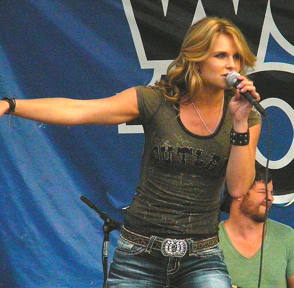 Kristy Lee Cook, country singer for Broken Bow Records, performs Monday night at the York Fair. (Mark Franklin Photo)
