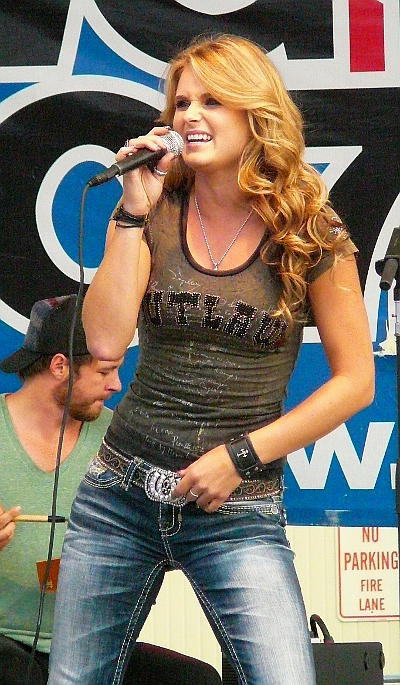 Kristy Lee Cook performs during her Monday night show at the York Fair. (Mark Franklin Photo)