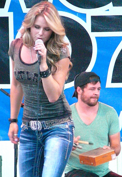 Kristy Lee Cook, formerly of American Idol, performs at the York Fair Monday night. (Mark Franklin Photo)