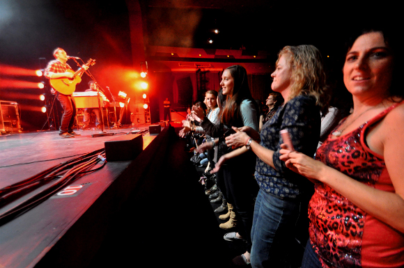 Fans enjoy the Phillip Phillips concert at the Pullo Center in York Thursday night. (Bil Bowden Photo / The York Dispatch)