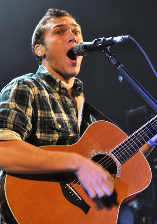 Phillip Phillips performs during Thursday's show at the Pullo Center in York. (Bil Bowden Photo / The York Dispatch)