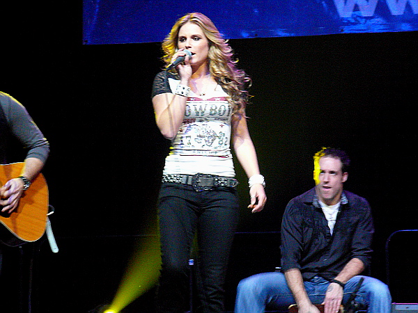 Kristy Lee Cook performs at Sunday's Jingle Bell Jam in York. (Mark Franklin Photo)