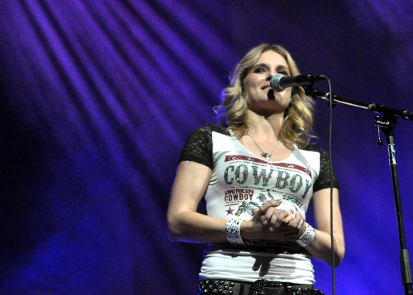Kristy Lee Cook performs at Jingle Bell Jam Sunday night in York. (Bil Bowden Photo)
