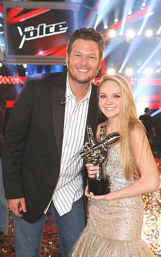 Danielle Bradbery won Season 4 of The Voice, becoming the third straight member of Team Blake Shelton to accomplish the feat. (NBC Photo)