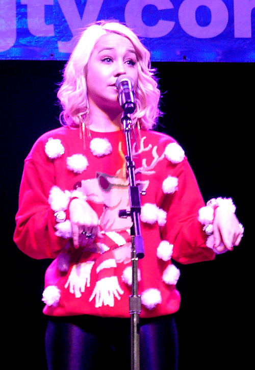 RaeLynn at Friday night's Jingle Bell Jam in York. (Mark Franklin Photo)